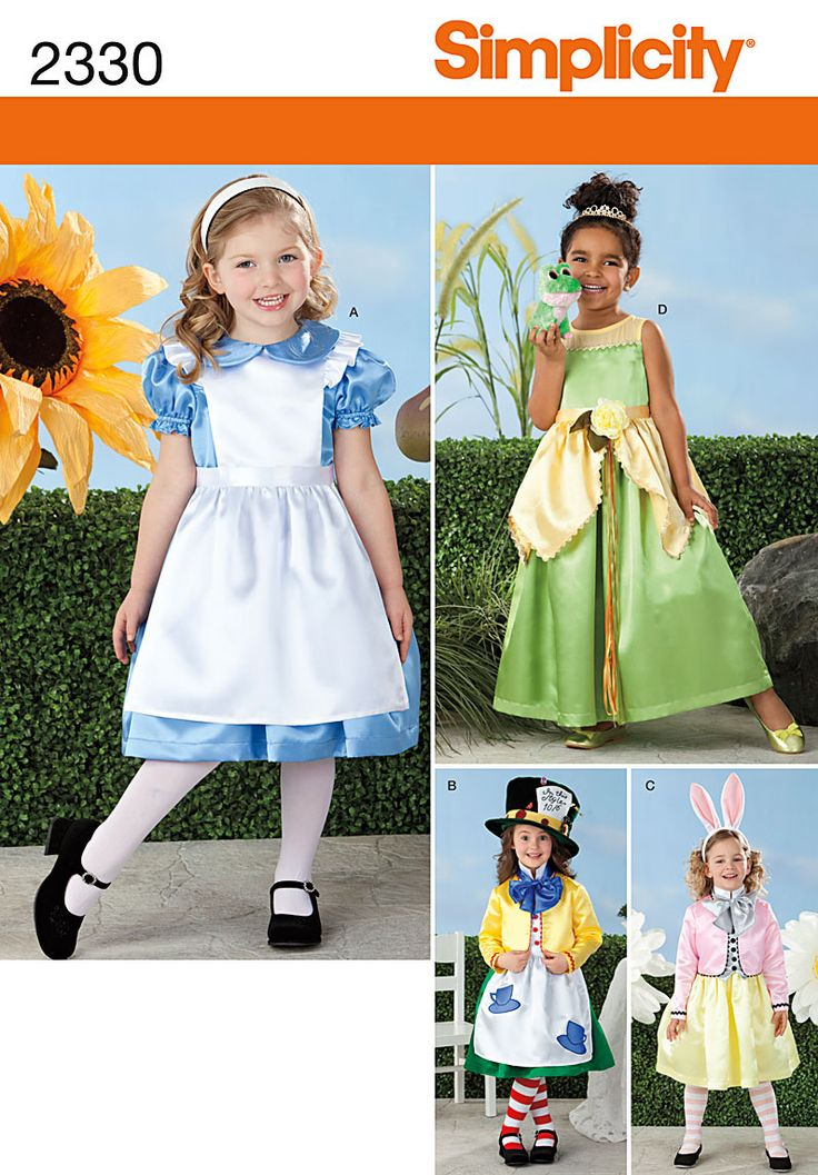 My sister asked me to make an Alice in Wonderland dress for her granddaughter. Voila