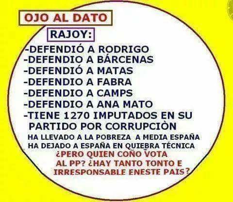 Los datos de Rajoy