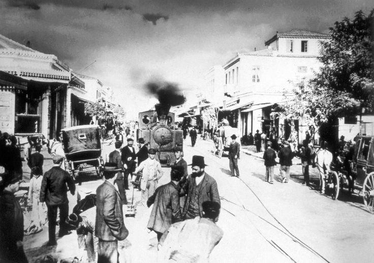 Οδός Δημητριάδος - Βόλος 1905 (φωτογράφος: Στέφανος Στουρνάρας)