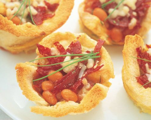Bean and Egg Toastie Pies recipe from Food in a Minute
