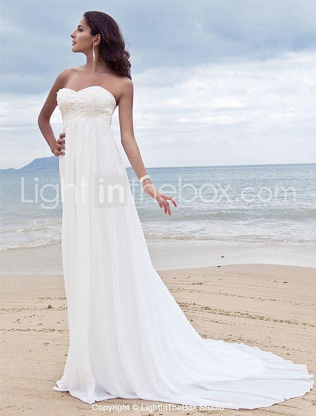 Lanting Bride® Trapèze Petites Tailles / Grandes Tailles Robe de Mariage - Classique & Intemporel / Chic & Moderne Traîne Tribunal Coeur de 2016 ? €107.79