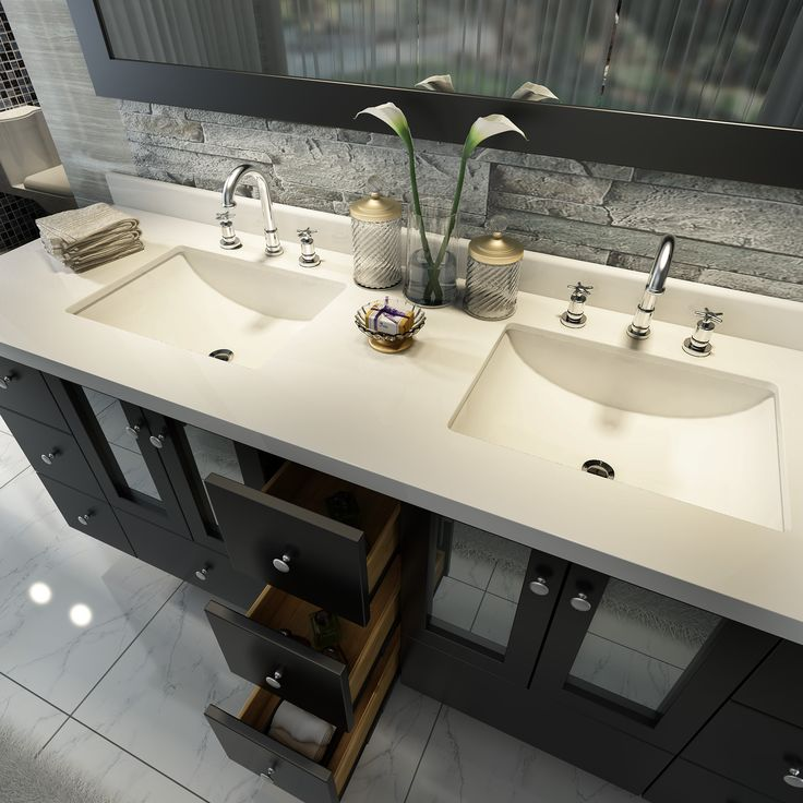 Modernize Your Bathroom Remodel With An Ace Americano 73 Inch Double Sink Bathroom Vanity Set In