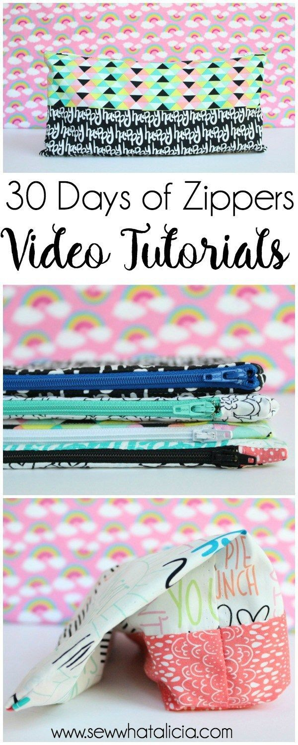 30 Days of Zippers - Live Sewing Video Tutorials: Day 1 through 7. Click through for 7 full video tutorials to master sewing the zipper. | www.sewwhatalicia.com #sewing #zippers #sewingzippers #sewingtutorial