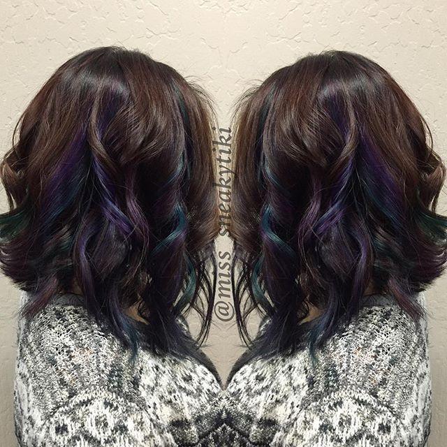 Image result for pravana peekaboo hair color oil slick