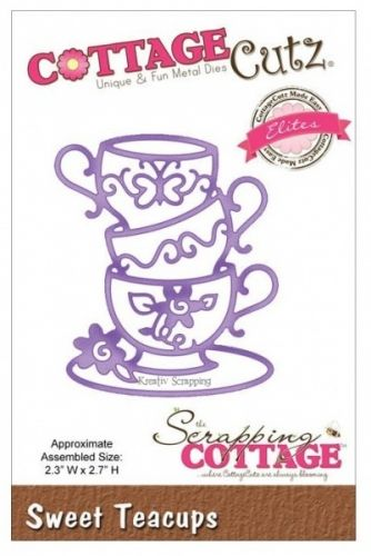 COTTAGECUTZ - CCE100 - SWEET TEACUPSDe er enkle å bruke og du får flotte detaljer til dine prosjekter.  Approximate Assembled Size:2.3 X 2.7 inches COTTAGE CUTZ: Cottage Cutz Elites Dies. With design styles that are cute and adorable; fun and whimsical; and classically elegant these universal wafer-thin dies make a great addition to your paper crafting supplies. Cut amazing shapes out of paper; cardstock; adhesive-backed paper; vinyl; vellum and more. They are ...