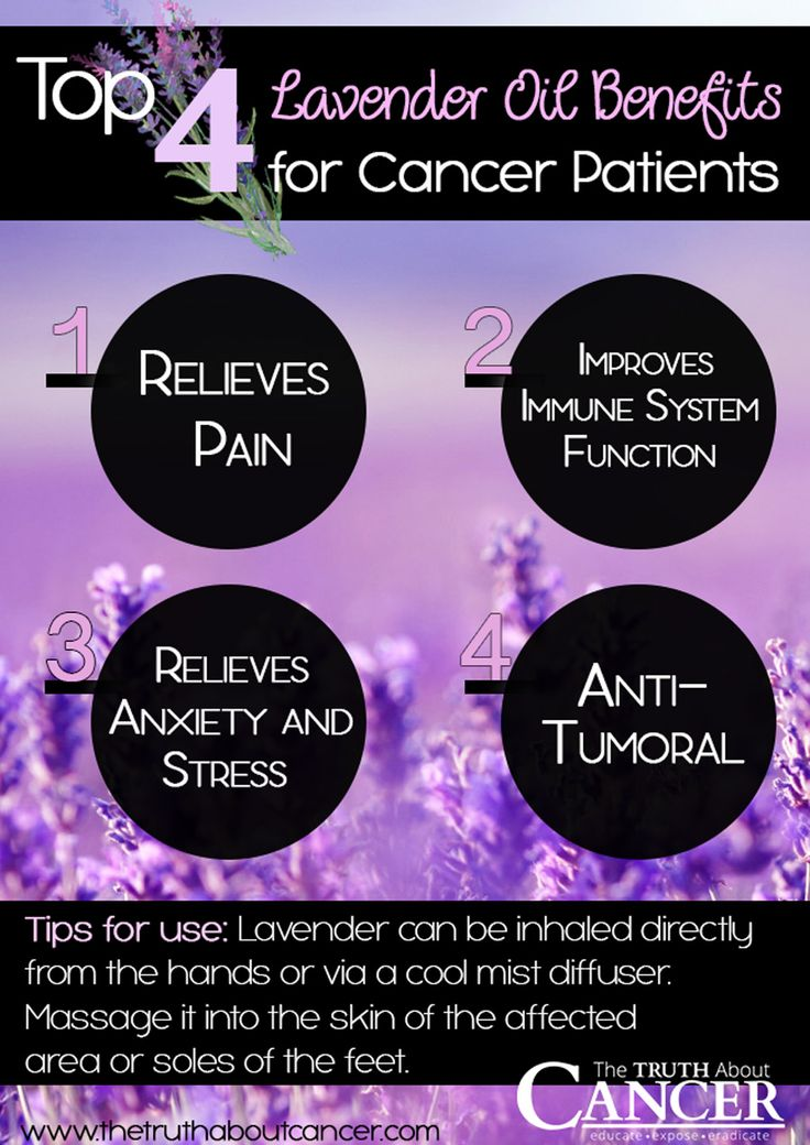 Tips for use - Relief of anxiety and stress - Improvement of immune system function - Pain relief - Precautions -    Which kind of Lavender oil to use - The best ways to use it (even with treating cancer)
