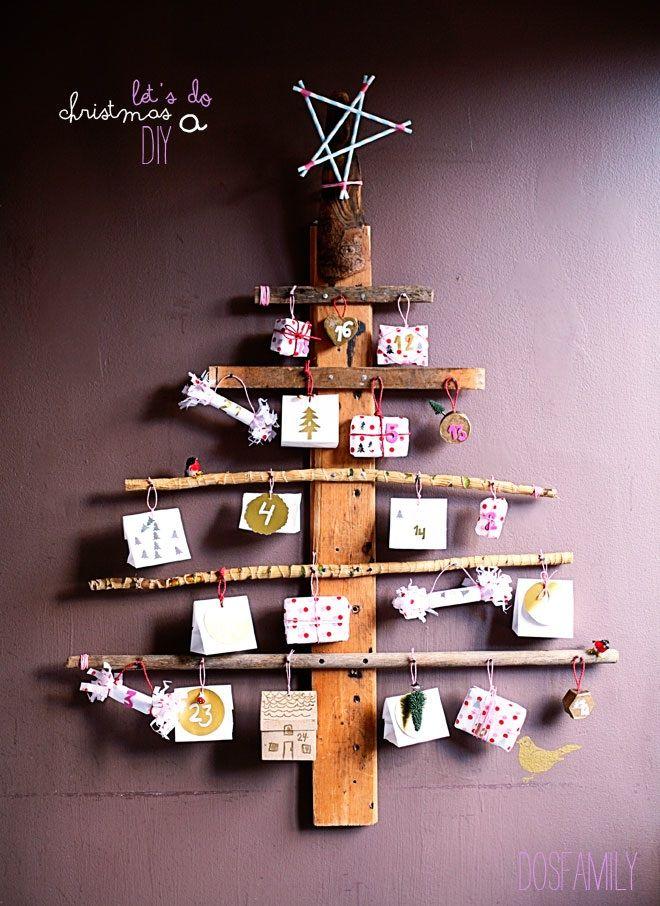 Wonderful advent calendar- DIY project for your christmas decor /// Toller selbstgemachter Adventskalender - Super Idee für die Weihnachtsdeko