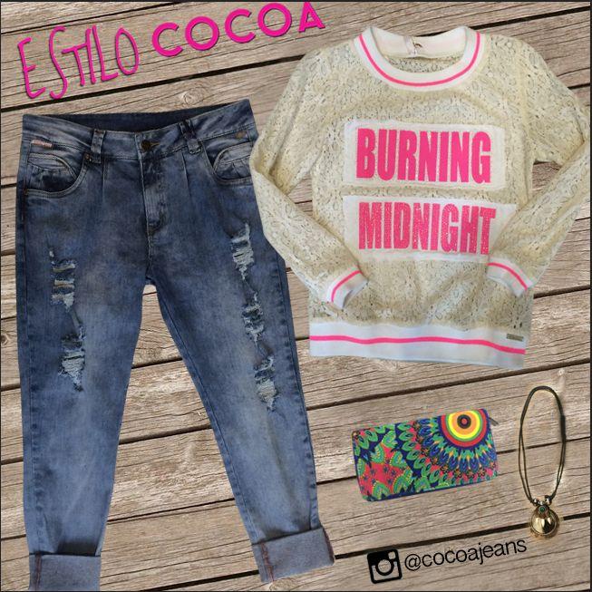 #moda y #estilococoa #fashion #trendy #lovely #look #outfit #woman #denim #jeans #cocoa