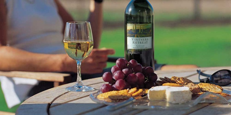 Wine, cheese, sunshine, Vintners Retreat...