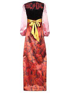 Атласное платье с принтом от GUCCI