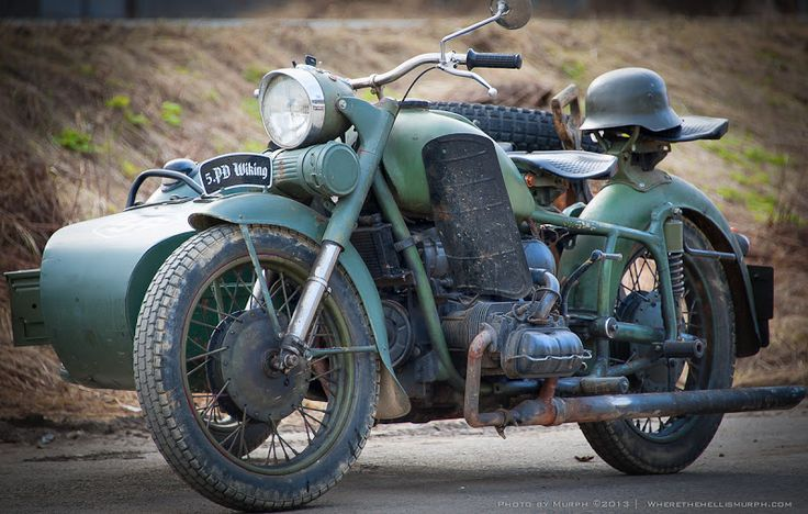 VW powered Dnepr sidecar outfit, Finland.