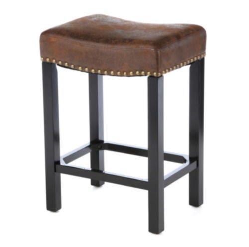 Stylish Bar Stool Brown Saddle Seat Kitchen Furniture