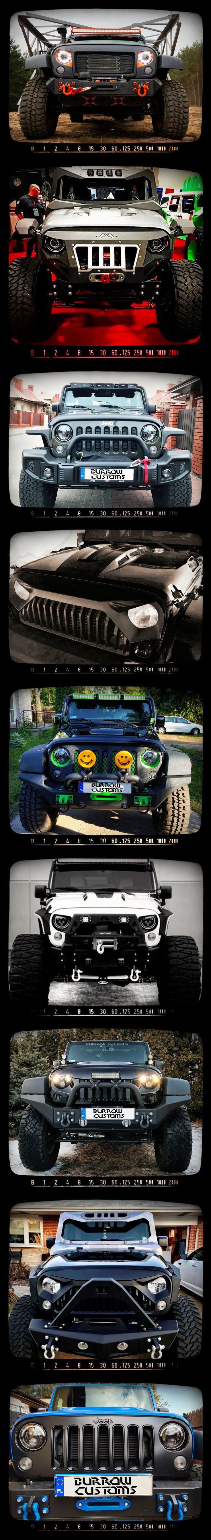 Jeep Wrangler front. The same car but...