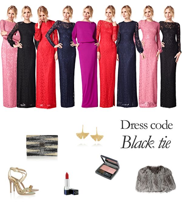 The 25  best Black tie attire ideas on Pinterest | Black tie ...