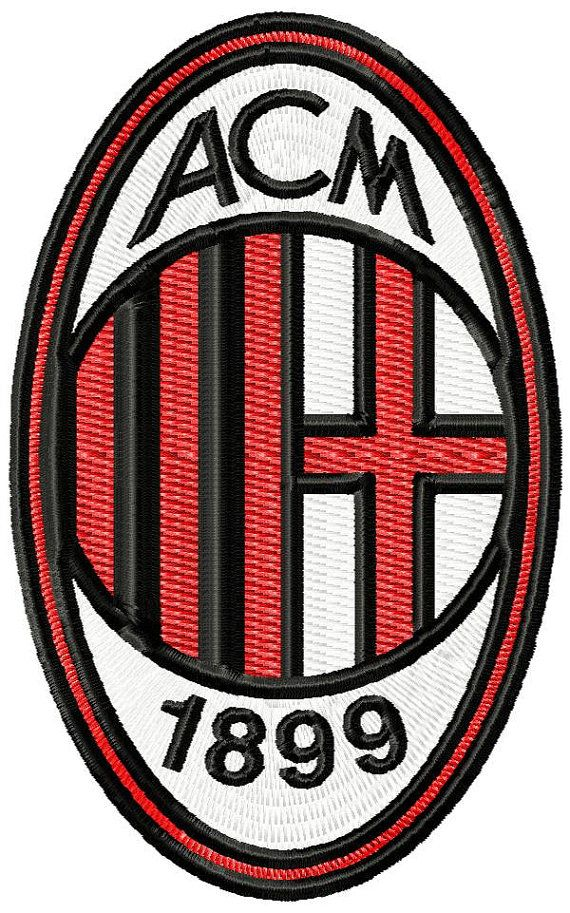 AC Milan fc logo machine embroidery design for by emoembroidery