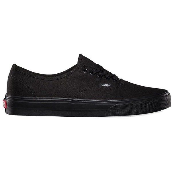 Vans Authentic ($50) ❤ liked on Polyvore featuring shoes, sneakers, vans, black, nick hudson, black low top sneakers, laced shoes, checkered sneakers, black sneakers and low profile sneakers