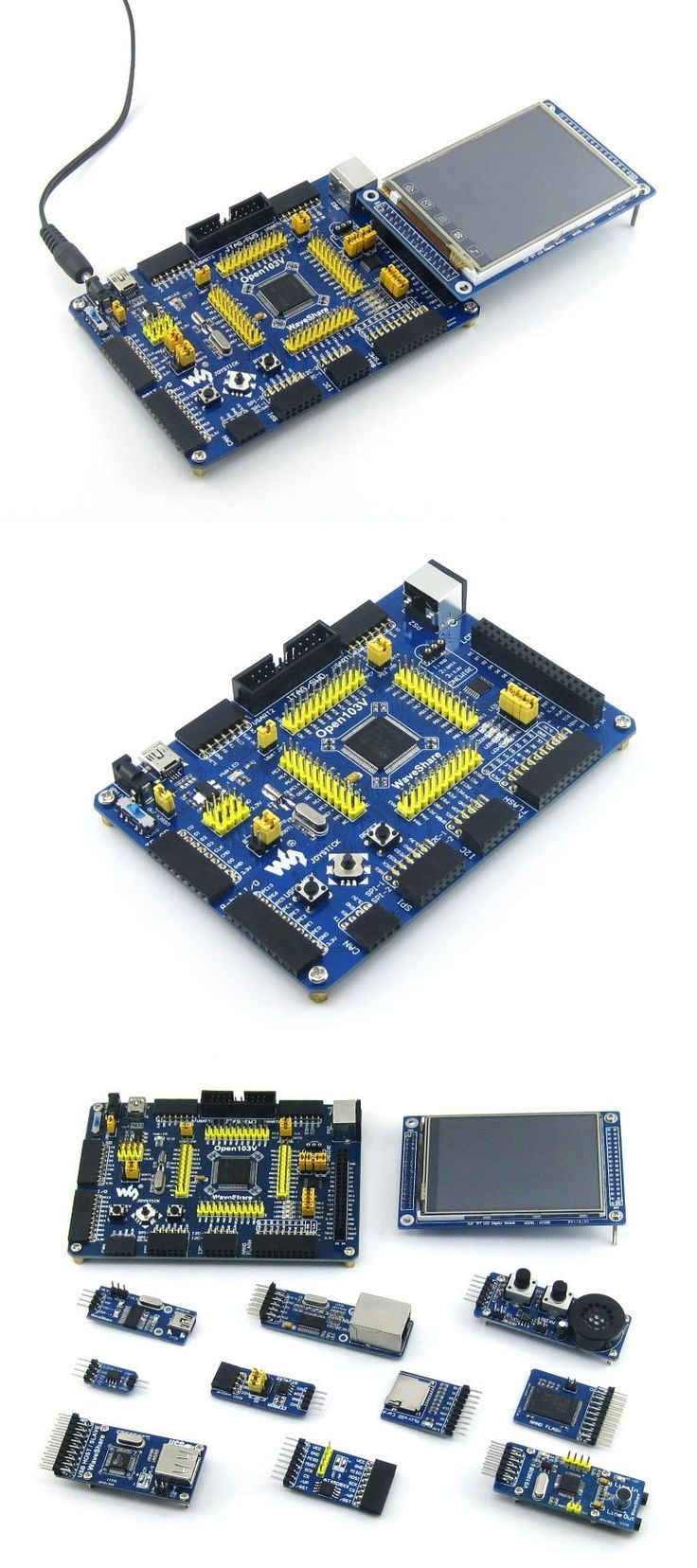 STM32 Board STM32F103VET6 STM32F103 ARM Cortex-M3 STM32 Development Board +10pcs Accessory Modules=Open103V Package B