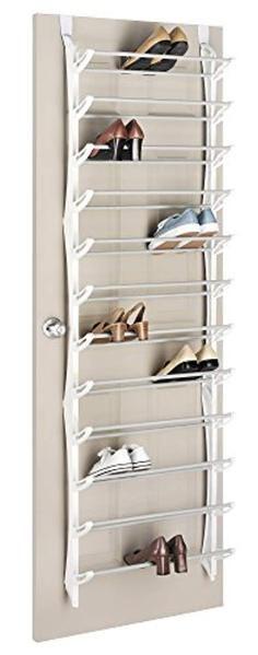 Whitmor 36-Pair OTD Shoe Rack, White