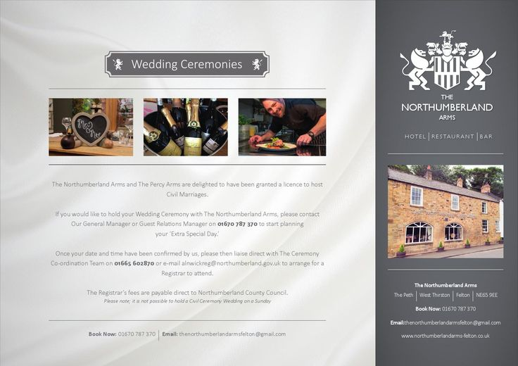 Wedding Brochure 2016 by Northumberland Arms Felton - issuu