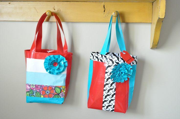 duck tape bag tutorial {girls camp craft} | Little Birdie Secrets