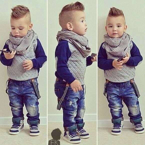 Cute little boy hair cut!