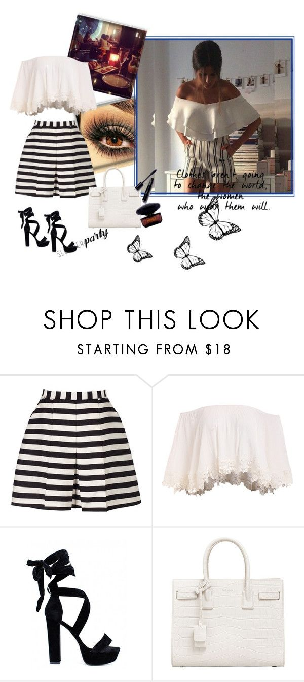 """Beauty ^^"" by erina-salkic ❤ liked on Polyvore featuring Reiss, Yves Saint Laurent, Versace, beautiful and fashionset"