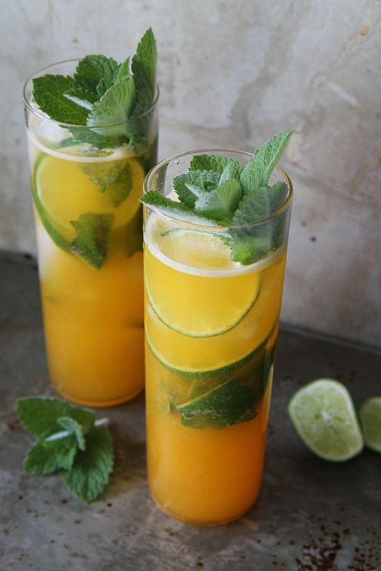 Apricot and Lime Mojito - Apricot Puree (Recipe), Mint Leaves, Lime ...