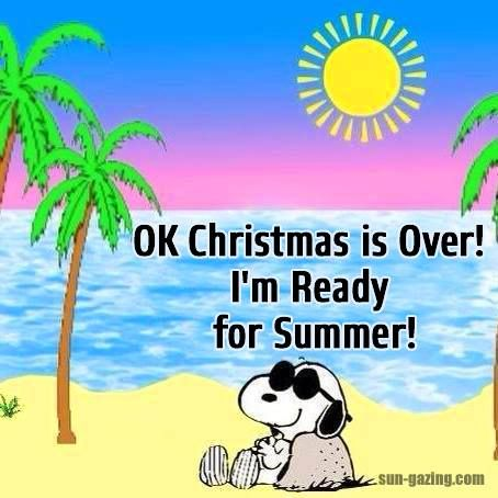 Snoopy Quote - Ok, Christmas is over! I'm ready for Summer! / Snoopy /