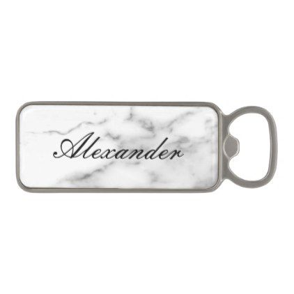 Personalized marble print magnetic bottle opener - marble gifts style stylish nature unique personalize