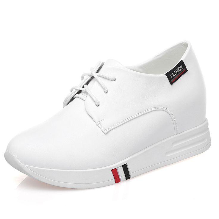 Sneakers Femme Bride Nouvelle Mode Couleur Pure Casual Plateforme Epais Lacets Dans Le Printemps Confortable Ylw8CNmMgm