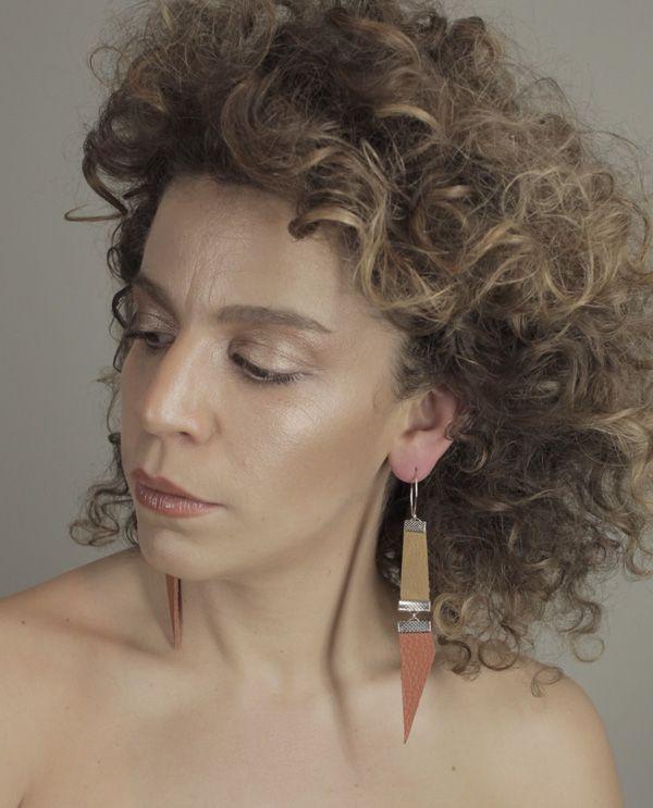 Leather earrings from Rio Branner www.riobranner.etsy.com