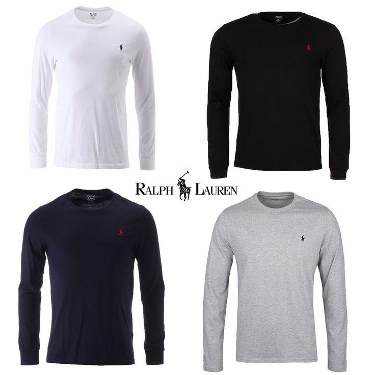 Ralph Lauren Polo Men's Crew Neck Long Sleeve Tshirt  | eBay