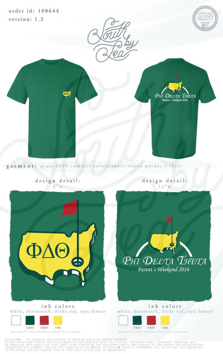Phi Delta Theta | Phi Delt | Golf Theme T-Shirt | Parent's Weekend | South by Sea | Greek Tee Shirts | Greek Tank Tops | Custom Apparel Design | Custom Greek Apparel | Sorority Tee Shirts | Sorority Tanks | Sorority Shirt Designs