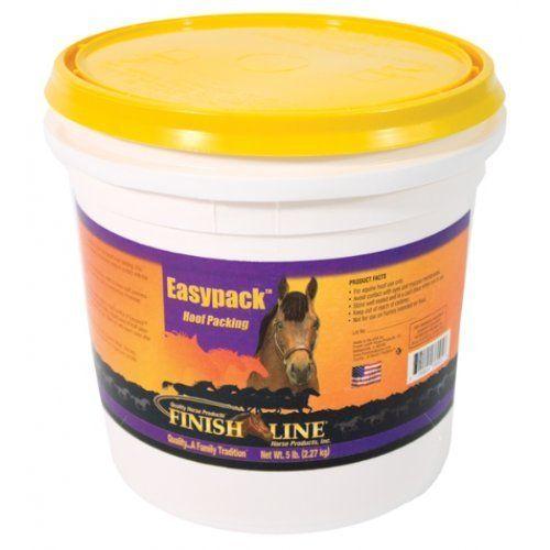 finish line easypack hoof packing by Finish Line. $33.65. UNITED STATES. Botanical oil and clay-based hoof packing. Easy to apply and remove, and when applied as directed, stays in contact with the frog and sole for 24 hours. Aids in the temporary relief of minor hoof soreness such as stinging feet, stone bruising and heat due to overexertion. Promotes healthy frog and sole tissues. Aluminum Silicate, Glycerol, Water, Glucose, Teatree Oil, Lemon Balm Oil, Clove Bud Oil, M...