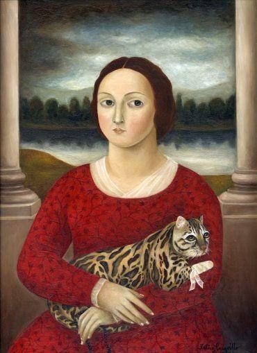 "::::♡ ♤ ♤ ✿⊱╮☼ ♧☾ PINTEREST.COM christiancross ☀❤ قطـﮧ ⁂ ⦿ ⥾ ⦿ ⁂  ❤U •♥•*⦿[†] :::: !- إدى له نَفَس ! . ما بِيِشْرَبُوووووووووووشْ  Fatima Ronquillo, ""Woman with Injured Cat,"" 2007, oil on panel."