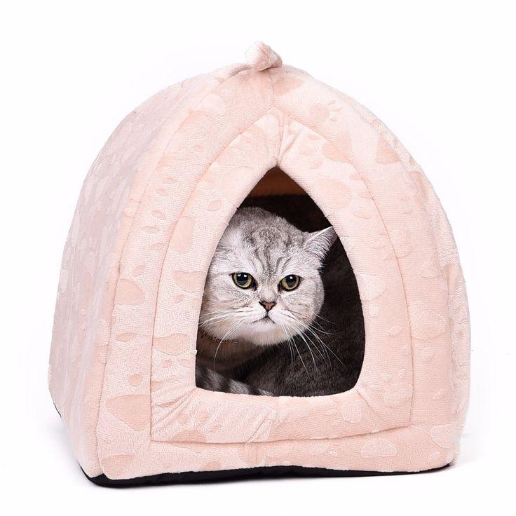 Warm Cotton Cat Cave Domowych Dom Łóżko Pet Dog House Piękny miękkie Odpowiednie Dla Zwierząt Pies Poduszki Cat Bed Dom Wysokiej Jakości Produktów