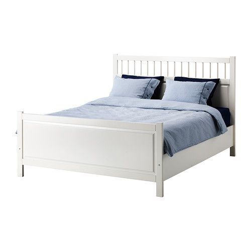 $279 HEMNES Bed frame - Queen - IKEA. With a white frame and head board, you can paint the walls whatever color you'd like.