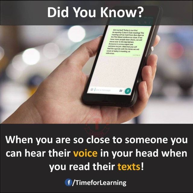 Wow!..I can hear my parents and best friends voice What about u??