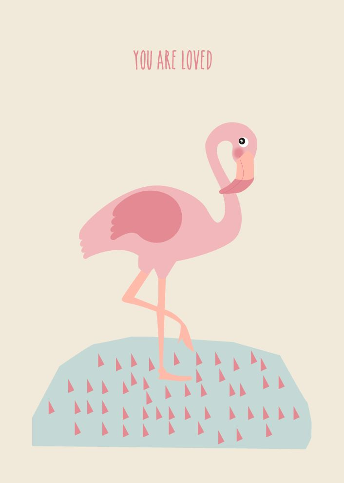 flamingo. you are loved