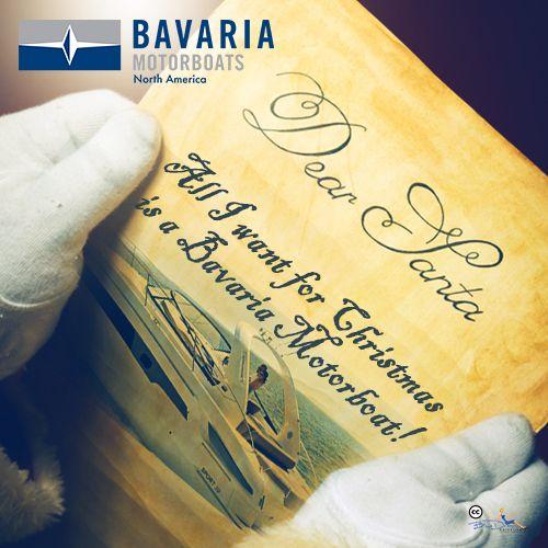 Dear Santa, I want a Bavaria Motorboat for Christmas! I'm not picky any model will do! www.bmbna.com #yachtforsale