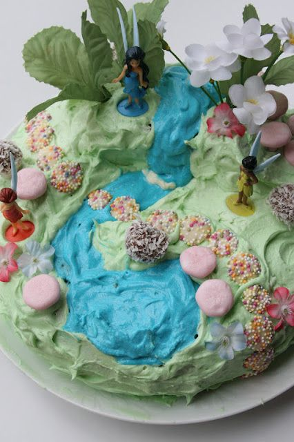 Create with your hands: Fairy Garden Birthday Cake