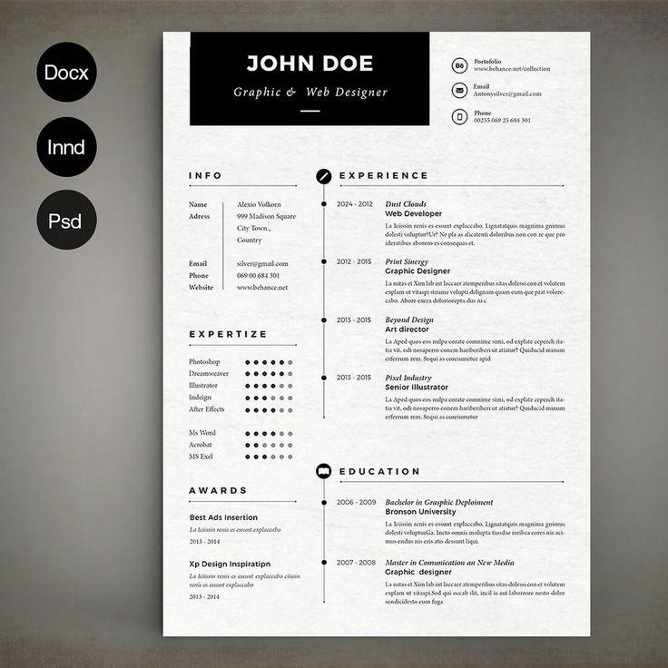 80 best resume & folio inspiration images on Pinterest   Resume ...