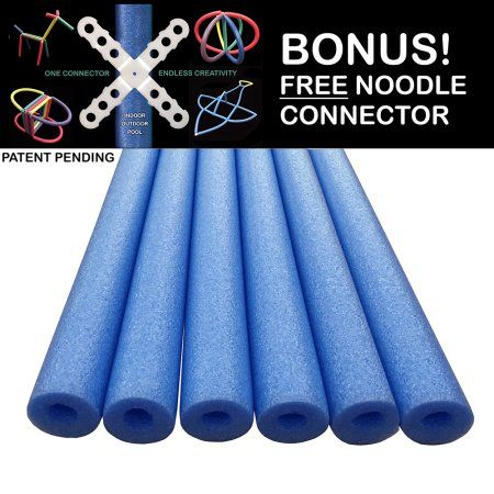 Oodles of Noodles Deluxe Foam Pool Swim Noodles - 6 PACK 52 Inch Bulk Pack