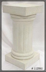 Pedestal 30 inch ivory 12x12x30 Roman