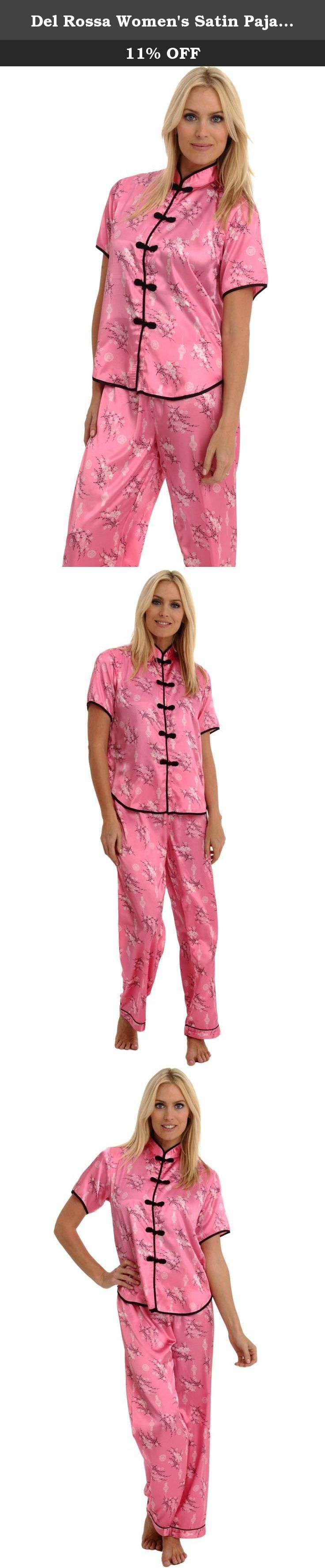 Del Rossa Women's Satin Pajamas, Chinese Inspired Pj Set, Medium Pink (A0728PNKMD). This women's satin pajama set from Alexander Del Rossa is comfortable, durable, and classy. Made from premium 100% polyester satin fabric, this women's pj set is cool and easy on the skin. Designed with you in mind, these classic ladies pajamas are perfect for lounging around the house - even when guests are present. Rich in features, we trust that this satin pajama set for women will not disappoint…