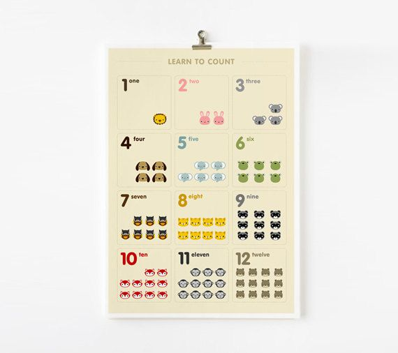 Learn to count animals in Japanese by loopzart, $15.00