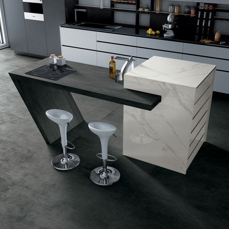 AVA Ceramica - EXTRAORDINARY SIZE Collection - Made in Italy - #kitchen #black - www.avaceramica.it
