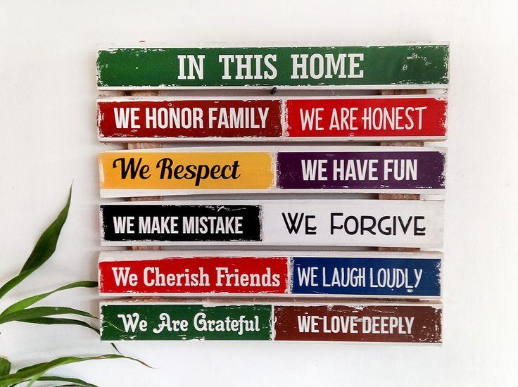 Jual Hiasan dinding House rules ukuran Jumbo - Decoria Jogja | Tokopedia