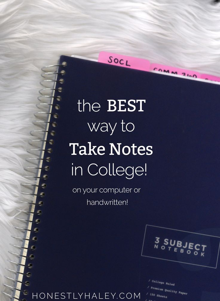 take notes in college