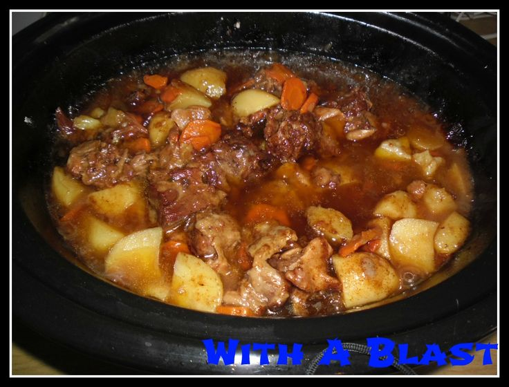 Oxtail (slow-cooker) - the best recipe in existence and so easy! .. scroll down for recipe..